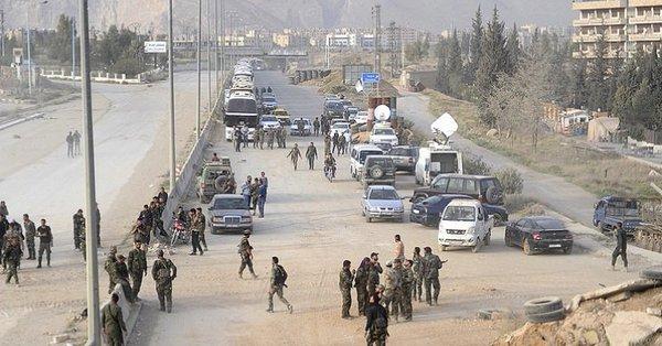 Rusya: Son 48 saatte 6500 militan Doğu Guta'dan İdlib'e tahliye edildi