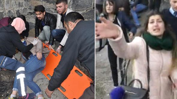 Üniversite öğrencisi Kars Kalesi'nden düştü