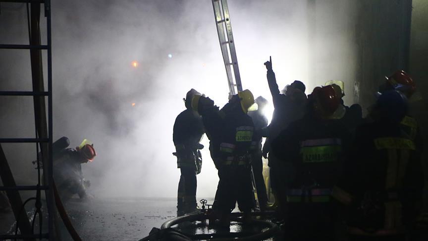 Bakü'de yangın faciası: Onlarca ölü var