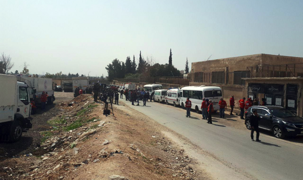 Cihatçılar Doğu Guta'da sivillerin çıkışını engellemeye devam ediyor
