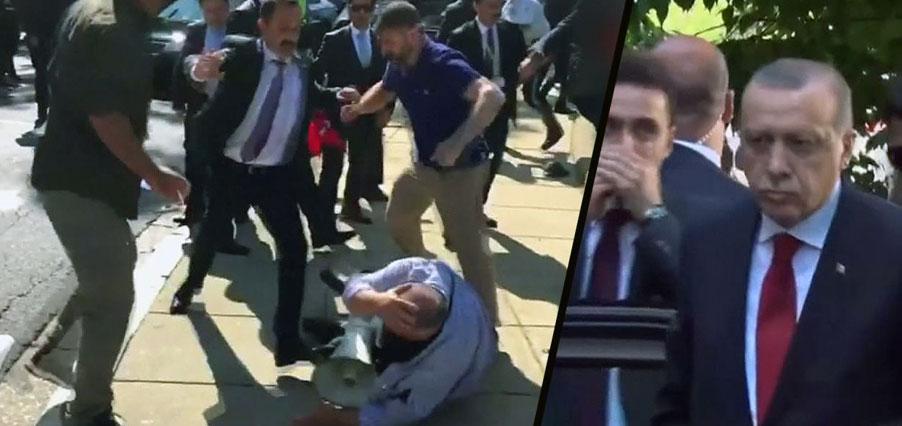 Erdoğan'ın korumaları protestoculara saldırmıştı: Dava düştü