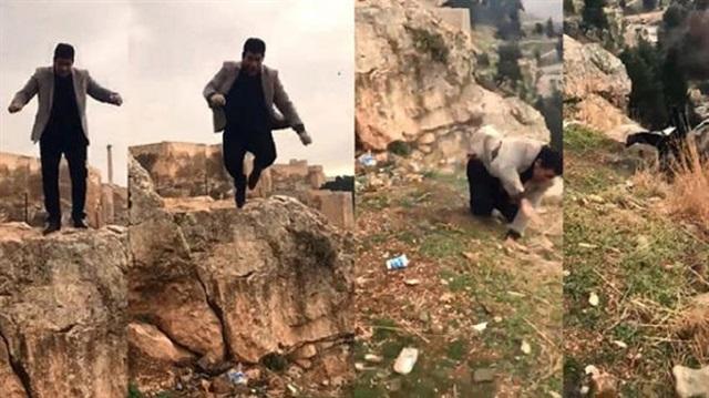 Tarihi kaleden düşüp ölen adamın kızı da aynı yerden düştü