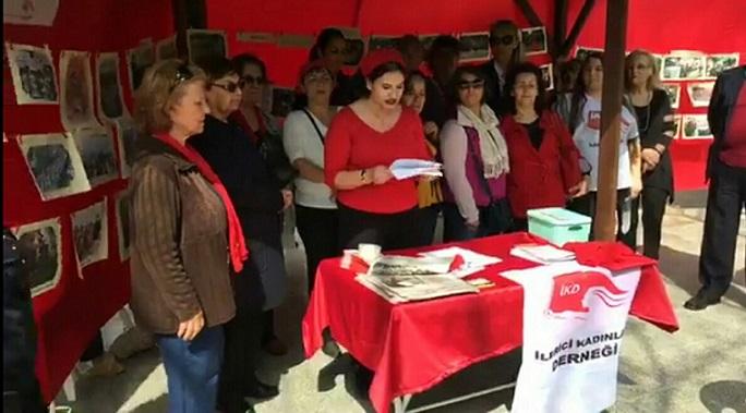 Antalya'da 8 Mart: İlerici Kadınlar Derneği basın açıklaması ve sergi düzenledi