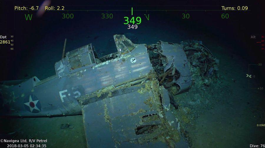 2. Dünya Savaşı'nda batan ABD gemisi 11 uçak ile birlikte bulundu