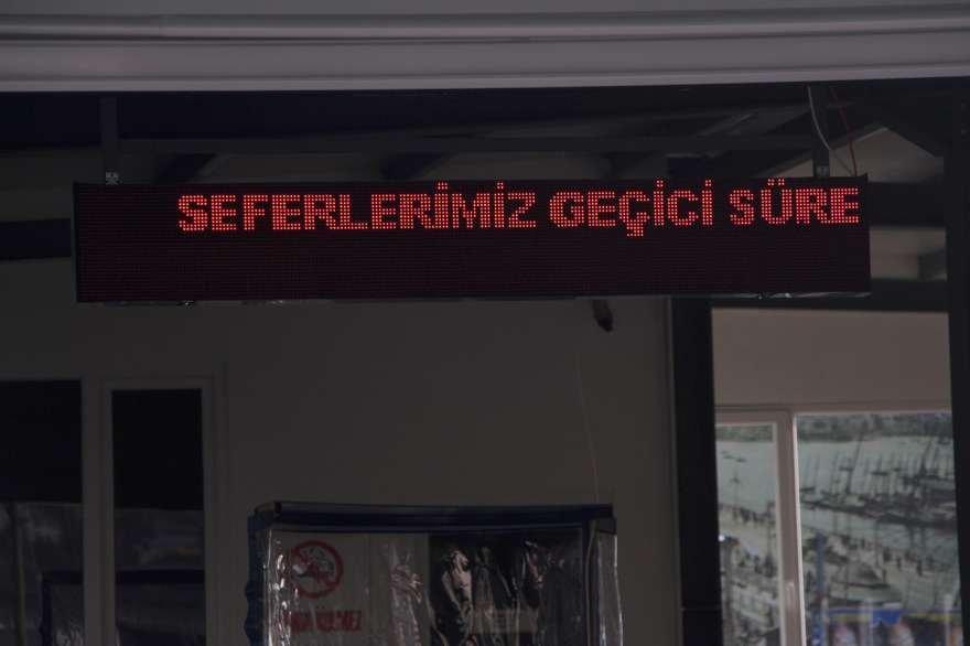Kadıköy-Karaköy seferleri iptal