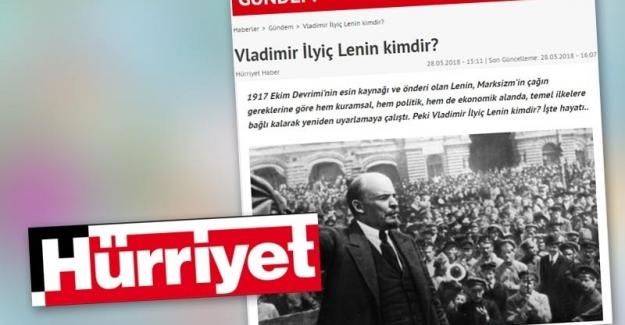 Hürriyet, Lenin alıntısını haberinden kaldırdı