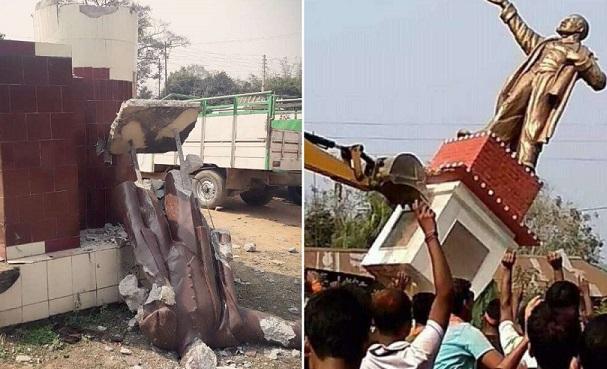Hindistan'da faşistler Lenin heykellerini yıktı, komünistlere saldırdı: 514 yaralı
