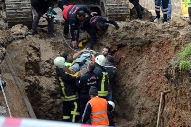 Göçük altında kalan taşeron işçisi ağır yaralandı