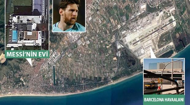 Messi'nin evinin üstünden uçak geçmesi yasak