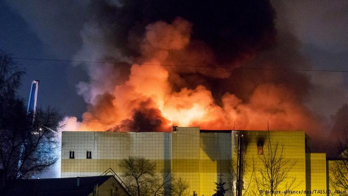 Rusya'da AVM yangınında ölü saysı 64'e çıktı