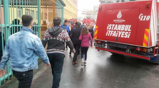 Zeytinburnu'nda okulda yangın