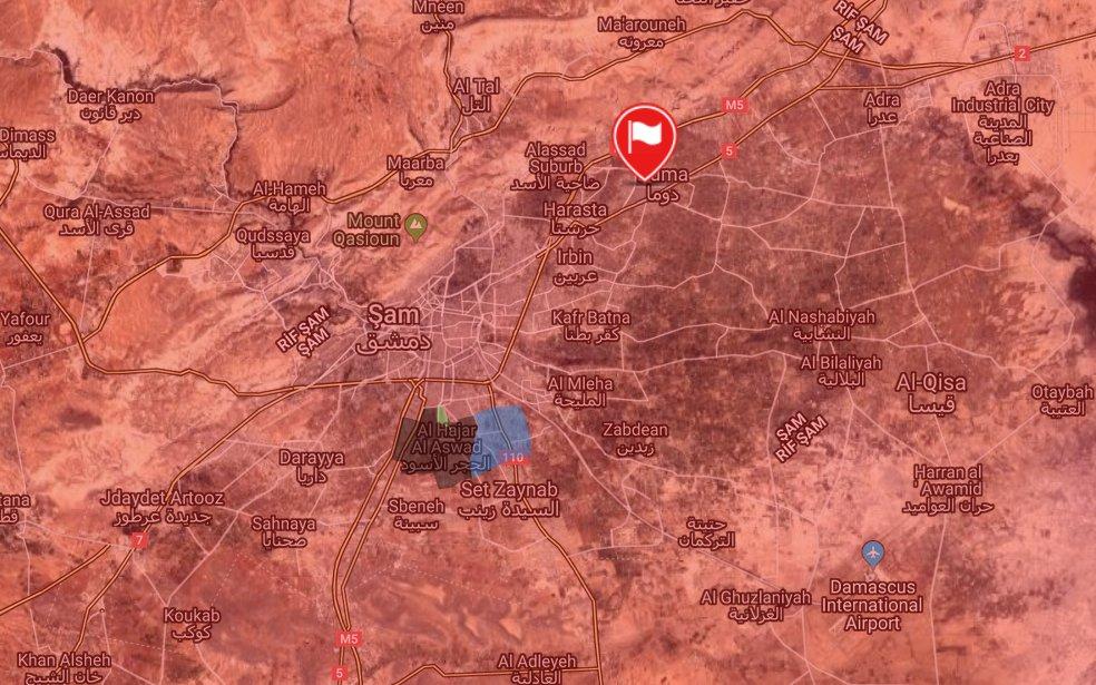 Doğu Guta'da cihatçıların son bölgesi de düştü: Suriye bayrağı yeniden dalgalanıyor