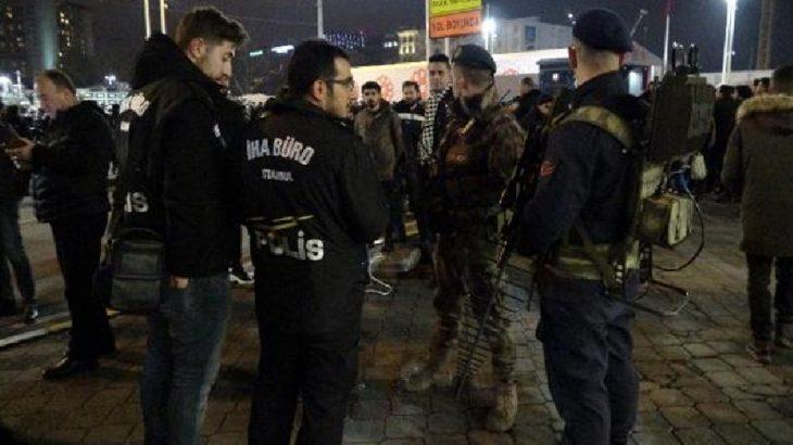 Taksim'de yılbaşı gecesi jandarma, polis drone'u düşürdü