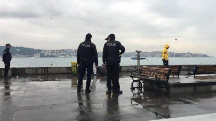 Beşiktaş sahilinde intihar