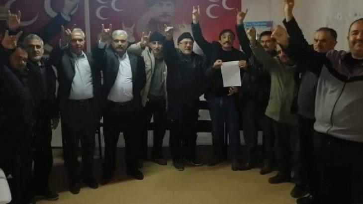 MHP ilçe yönetiminden toplu istifa