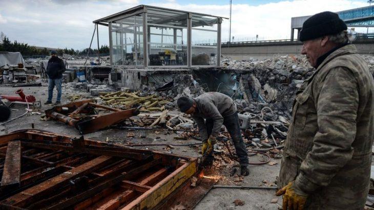 Rant uğruna kapatılan Atatürk Havalimanı'nın kargo bölümünün yıkımı tamamlandı