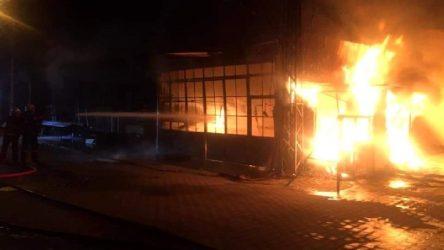 Çanakkale Biga'da korkutan yangın