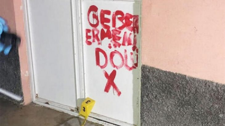 Dersim Pertek'te, eniştesi iltica hakkı kazansın diye kapıya yazı yazan kişi tutuklandı