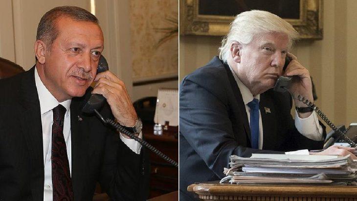 Erdoğan Trump'la telefonda görüştü: Konu Libya ve Suriye