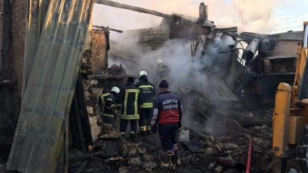 Konya'da facia: Ev yangınında 3 kişi öldü