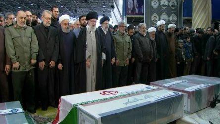Tahran'da Kasım Süleymani için cenaze töreni