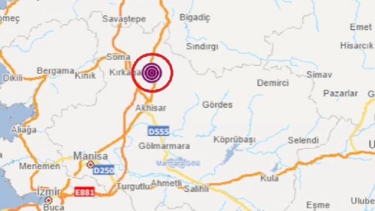 Manisa'da 5.1'lik deprem