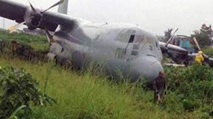 Kongo'da dev askeri uçak düştü