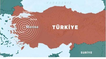 Manisa Akhisar'da 4.2 büyüklüğünde deprem