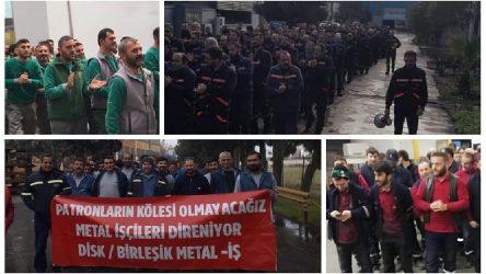 Metal işçileri yeni yıla eylemlerle girdi