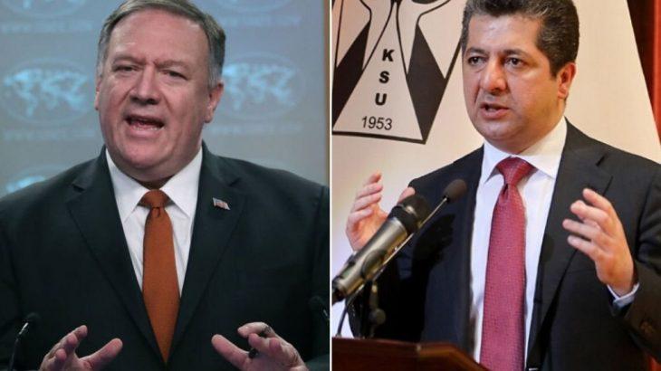 Barzani ve Pompeo'dan'İran' görüşmesi