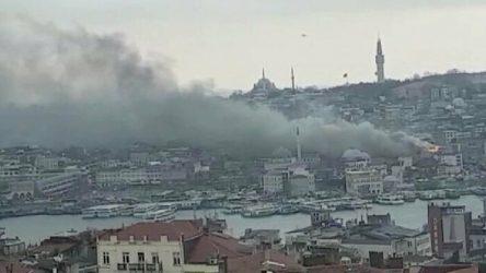 Yeni Camii yakınında yangın