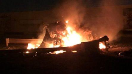 VİDEO | ABD'nin Kasım Süleymani'yi hedef aldığı saldırıdan görüntüler