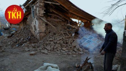 Komünistlerden depremden etkilenen köyler için dayanışma kampanyası