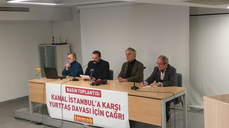 TMMOB'dan'Kanal İstanbul' için dava çağrısı