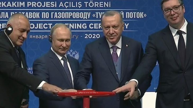 Erdoğan ve Putin TürkAkım'ı açtı