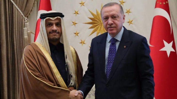 Erdoğan Saray'da Al Thani'yi ağırladı