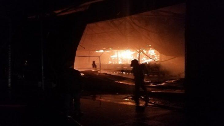 Ankara Akyurt'ta fabrika yangını!