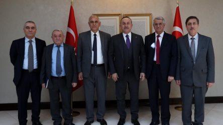 Çavuşoğlu Suriye Kürt Ulusal Konseyi heyeti ile görüştü