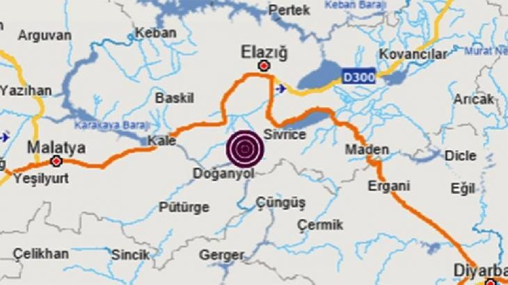 Elazığ Sivrice'de 4.5'lik deprem