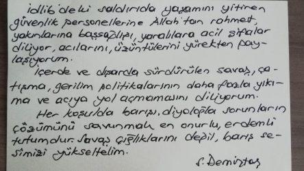 Selahattin Demirtaş'tan İdlib mesajı