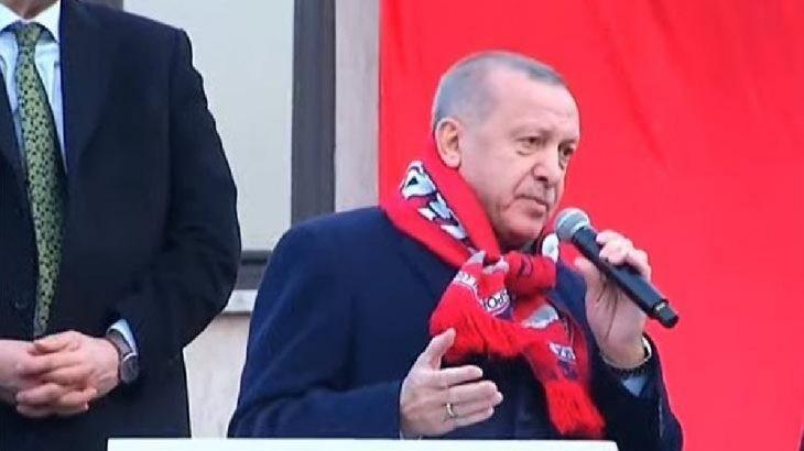 Erdoğan Bergama'da konuşuyor: Pasaportu itibar gören bir ülke konumuna geldik