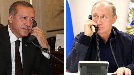Erdoğan ile Putin İdlib'i konuştu