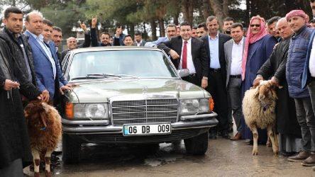 Bahçeli'nin 'hediye'si otomobil Harran'da: Kurban keserek karşıladılar
