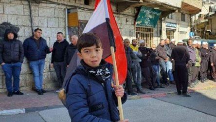 Golan'da İsrail protestosu