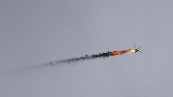 Suriye'nin bir helikopteri daha düşürüldü!