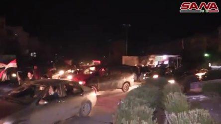 VİDEO | Halep'te tamamen kontrol sağlandı, halk kutlama yapıyor