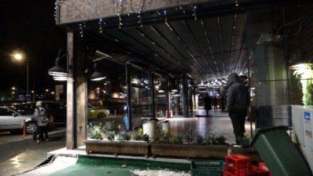 Isparta'da fırtına nedeniyle lokantanın camı patladı: 5 yaralı
