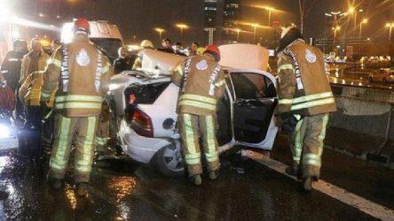 İstanbul'da zincirleme kaza: 1 ölü, 3 yaralı