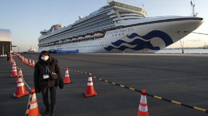 Japonya'da karantinaya alınan gemide koronavirüs tespit edilen kişi sayısı 355'e yükseldi