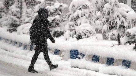 Kar nedeniyle 9 ilde eğitime engel
